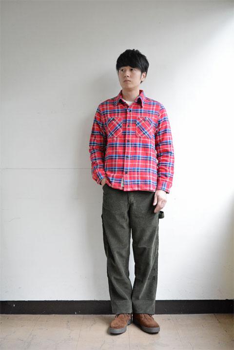 loquat-workshirt-check-red1
