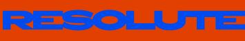 resolute(リゾルト)のロゴ